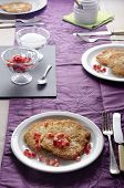 Laid Table With Rustic Potato Pancakes