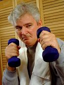 Mature Man Working Out