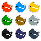 Cigarette Icon Set Of Blank Stickers