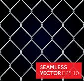 Vector seamless wired fence background. Steel Wire Mesh Seamless Background. Vector illustration