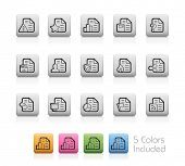 Documents Icons - 2 of 2 // Outline Buttons - Each color in a layer. To see the desired color, you need to make it visible in the layer panel -- EPS 10+ Contain Transparencies