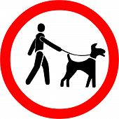 Keep Dogs on a Leash Symbol
