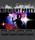 Midnight Party. Dancing People. Vector
