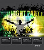 Midnight Party. Vector poster