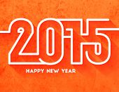 Happy New Year 2015 Abstract Creative Greeting Card Template in Modern Flat Style with Long Shadow for Holiday Designs