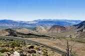 Two Lane Road Eastern Sierra Nevada Mountains
