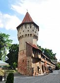 picture of sibiu  - sibiu city romania The Carpenters Tower landmark architecture - JPG