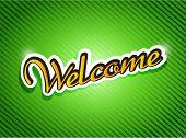 Welcome Sign Card Illustration Design