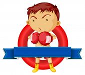 Illustration of a man wearing boxing gloves