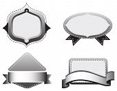 Four empty grey templates on a white background