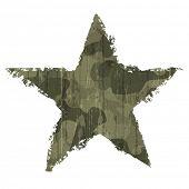 Camouflage star symbol. Raster version
