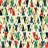 Geometric retro seamless pattern. Raster version