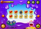 picture of monsters  - A colourful videogame with monsters  - JPG