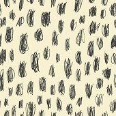 Doodles scrabble seamless pattern. Raster version