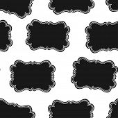 Seamless Wild West Labels Pattern. Raster version