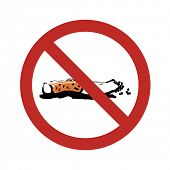 No Smoking Sign Illustration. Raster version
