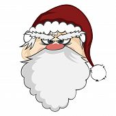 stock photo of stare  - an angry Santa Claus is staring at you - JPG