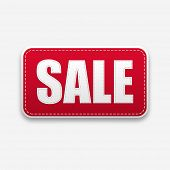 Stylish white color text design of sale on white background.