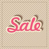 Stylish pink color Sale text design on seamless background.
