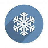 Snowflake Icon in Flat Design Style. Vector