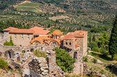 Byzantine church in medieval city of Mystras