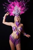female samba dancer