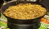 Asian Noodles In Wok