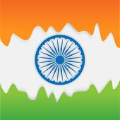 Beautiful national flag color background with Ashoka Wheel for Indian Independence Day and Republic Day celebration.