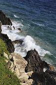 Beautiful waves of the Aegean Sea.