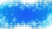 abstract dots blue background