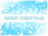 light blue Merry Christmas card
