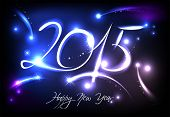 New Years banner for 2015 with back light and place for your text