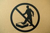 No stepping on surface warning sign