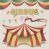 illustration of circus tent