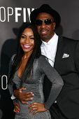NEW YORK-DEC 3: Comedian/actor J.B. Smoove (R) and wife Shahidah Omar attend the