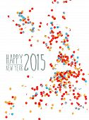 pic of confetti  - Happy New Year 2015 celebration with colorful confetti paper background - JPG