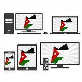 Electronic Devices With The Map Of Jordan