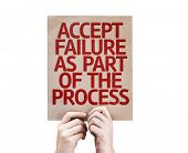 Accept Failure As Part Of The Process card isolated on white background