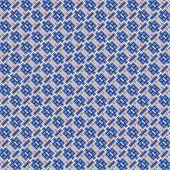 Seamless Decorative Mosaic Pattern In Blue