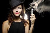 Woman Vaping E-Cigarette