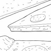 Outline Of Pizza Slices