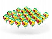 Balloons With Flag Of Guyana