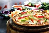 Delicious Pizza Bacon With Peppers