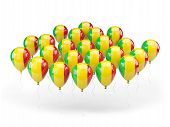 Balloons With Flag Of Mali