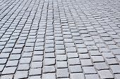 image of cobblestone  - Old street with cobblestones for a background - JPG