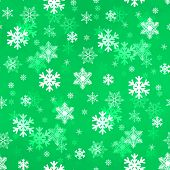 Light Green Snowflakes
