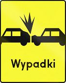 picture of rear-end  - Polish road warning sign - JPG