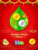 stock photo of pooja  - illustration of background for Akshay Tritiya celebration - JPG