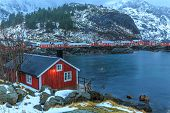 pic of lofoten  - Nusfjord is the oldest fishing village in Lofoten - JPG