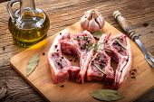 picture of lamb chops  - Raw lamb chop ready for frying - JPG